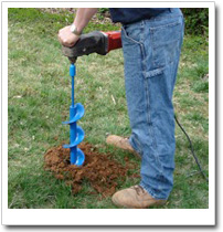 Post hole augers, due to their longer length, are designed for the heaviest duty half inch drills
